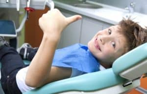 young boy in a dental surgery - firs visit schulhof center