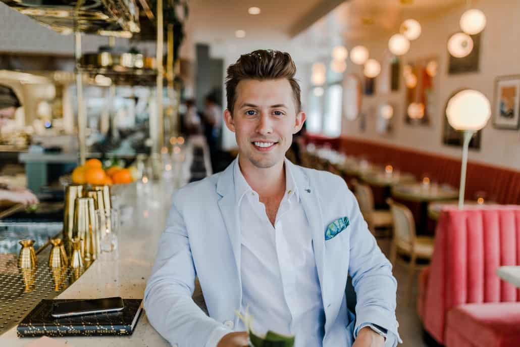 man in smart bar