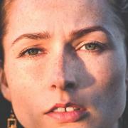 woman with gap teeth